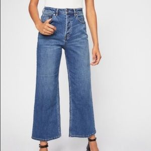 Free People Wales Wide Leg High Waisted Jeans 25